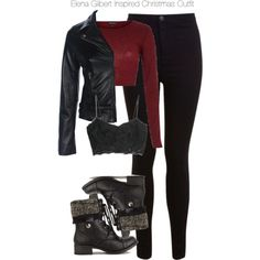 The Vampire Diaries - Elena Gilbert Inspired Christmas Outfit by staystronng on Polyvore featuring River Island, MANGO, Miss Selfridge, Christmas, tvd and ElenaGilbert