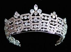 """Queen Elizabeth's """"Boucheron"""" tiara. The Boucheron tiara was left to Queen Elizabeth the Queen Mother by the Hon. Mrs Greville from Boucheron in London on 8th January, 1921."""