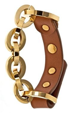 """Fornash """"Cusp"""" Leather & Plated Bracelet ♥✤ 