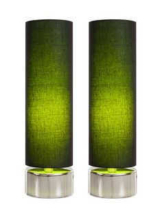 Pair of Draco Table Lamps (Black/Green) by Filament at Gilt