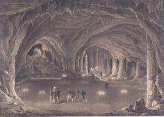 File:Eduard Gurk - Der große Dom in der Adelsberger Grotte - Backgrounds, Castle, Places, Painting, Art, Cave, Art Background, Painting Art, Kunst
