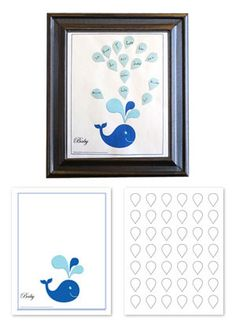 Whale Baby Shower Guest Book