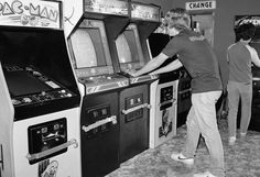 My dad's job allowed him to store video games just like in the picture in our garage. We had our own video arcade. My brothers and I would open the garage door and charge the neighborhood kids to play.