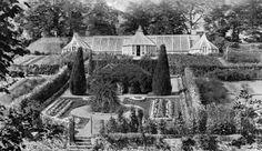 Tour Scotland Photographs: Old Photograph Gardens Glenbervie House Scotland