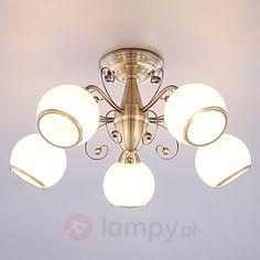 Bajeczna lampa sufitowa Corentin, post. mosiądz bezpieczne & wygodne zakupy w sklepie internetowym Lampy.pl.