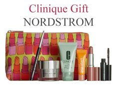 """A """"new"""" free 7-pc Clinique gift at NORDSTROM with any $49 Clinique purchase. Online only. Clinique Gift, Pencil Eyeliner, Cosmetic Case, Anniversary Sale, Eye Cream, Lip Colors, Free Gifts, Mascara, Clinic"""
