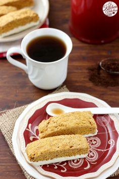 Pumpkin Pie Biscotti Recipe l www.a-kitchen-addiction.com #remixyourcoffee #client