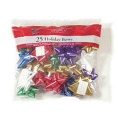 Berwick Offray Llc Trad Star Bow Bag 74000 Gift Wrap Bows Ribbons - - 25 Count, Traditional Colored Star Bows, In A Poly Bag. Consists Of: 7 Count Red, Christmas Tree Bows, Xmas Ornaments, Xmas Tree, Christmas Lights, Gift Wrapping Bows, Gift Wrapping Supplies, Bow Bag, Christmas Central, Xmas Decorations