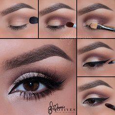Motives Cosmetics - Make-Up - Dramatic Eye Makeup, Eye Makeup Steps, Makeup Eye Looks, Smokey Eye Makeup, Skin Makeup, Eyeshadow Makeup, Make Up Designs, Eye Makeup Designs, Beauty Make-up