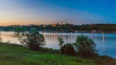 Vistula (Wisla) riverbanks in Plock, Poland