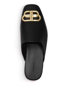 Balenciaga - Women's Flat Cosy BB Mule Slide Sandals Slide Sandals, Shoes Sandals, Balenciaga Womens, Womens Flats, Cosy, Bb, Shopping, Fashion, Sandals