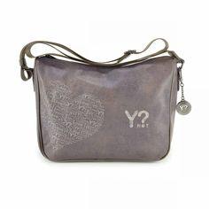 71d74a3b10efe Borse YNOT - Borsa a tracolla stampa Love - E370 Love Taupe - Parlatobags.it
