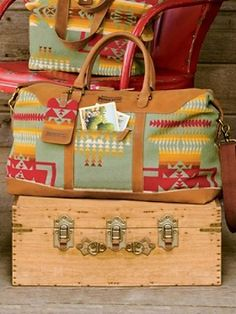 Chief Joseph Weekender ... love this pattern, who am I kidding, I love every pattern Pendleton makes !