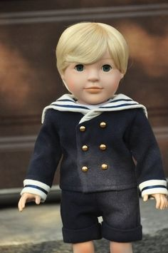 John Paul's Navy Sailor Outfit! #Doll #Dolls http://www.dollsfromheaven.com/dfh-blog/saint-pope-john-paul-ii-is-our-third-doll …