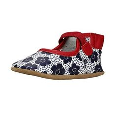 6f41d86fa8e3 Robeez Baby-Girls Mary Jane Soft Sole Leather Crib Shoes (Infant) Red
