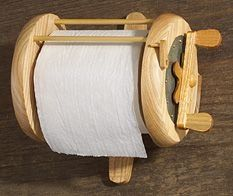 For the fishermen on your Christmas list....Sports: River's Edge Unique Deluxe Wood Fishing Reel Toilet Paper Holder