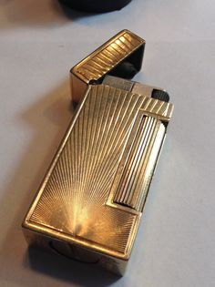 Vintage 14k Gold Dunhill Lighter  Outer Jacket  by FrankiesLane