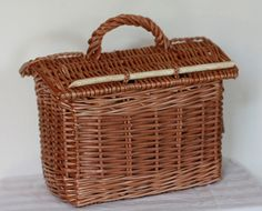 Cornish Croust Basket. My ancestors were tin miners. They would take their pasty down into the mine in one of these.