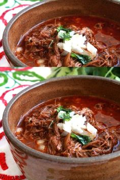 Slow Cooker Birria de Res or Mexican Beef stew is the ultimate Mexican comfort food Robust and incredibly delicious These flavors will make your tastebuds beg for more Serve with lime and diced onion It s so easy to enjoy Recipe by Mama Maggie s Kitchen Authentic Mexican Recipes, Mexican Dinner Recipes, Slow Cooker Recipes Mexican, Spanish Food Recipes, Mexican Dinners, Mexican Drinks, Mexican Desserts, Spanish Dishes, Food Dinners