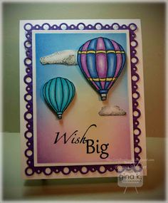 Hot Air Balloon Card Tutorial