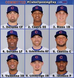 Here's your 2013 Cubs Opening Day lineup at Wrigley Field.