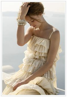 Bohemian Style Dresses from stylisheve Looks Style, Style Me, Bohemian Style Dresses, Fru Fru, Pink Beige, Passion For Fashion, Victoria Secrets, Ruffles, Ideias Fashion