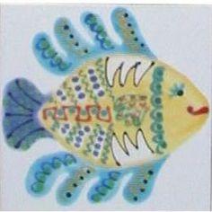 Sea Creatures Blue Tail Fish x Hand Painted Ceramic Tile Hand Painted Plates, Hand Painted Ceramics, Blue Tail, Painting Ceramic Tiles, Sea Creatures, Shutters, Mermaids, Murals, Sea Shells