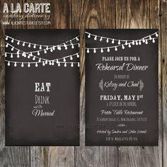 nice 10 chalkboard wedding invites