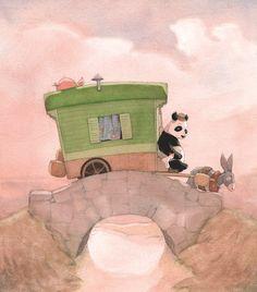 Illustrated imaginarium - Gipsy Panda byQuentin Gréban