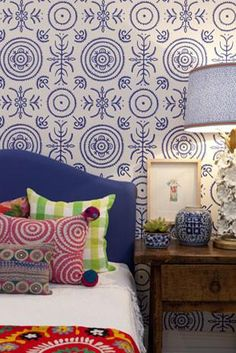 Anna Spiro for Porters Paints Round & Round The Garden Wallpaper (Colour options)