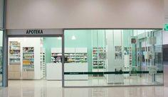 """Pharmacie design, interior design for pharmacie chain """"Lijek"""" in Montenegro done by Jelena Radovanic"""