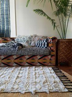 'Cecilia' Handmade pure cotton boho rug
