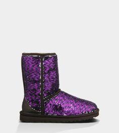 UGG Australia's sheepskin sparkle boot for women - the Classic Short Sparkles