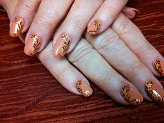 Podzimní nehty s jednoduchým zdobením   Tumblr