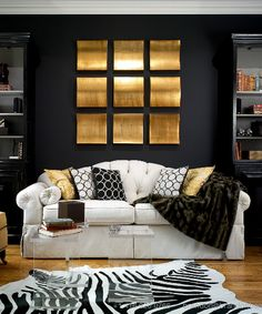 gold and black living room decorating ideas | living-room-4-photo-by-brandon-barre