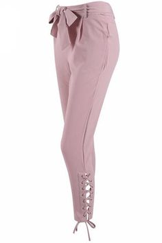 Laced Up Tie-Waist Cropped Trousers Dress Pants, Dress Up, Cropped Trousers, Best Sellers, Hemline, Night Out, Personal Style, Lace Up, Sweatpants