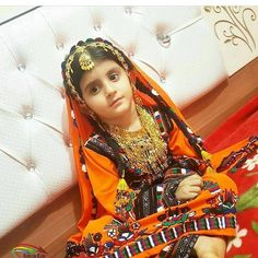 Baloch Girl in magnificent traditional Costume.