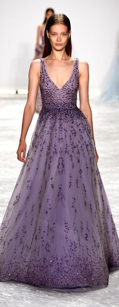 Monique Lhullier | SS 2015 | cynthia reccord.  |  This would be an exquisite bridesmaid dress. The neckline is a little low, but that's an easy fix. ....CH