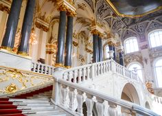Staircase at The Hermitage.