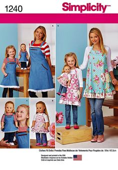 Mommy Me and Dolly Apron Pattern Mother and Daughter by blue510