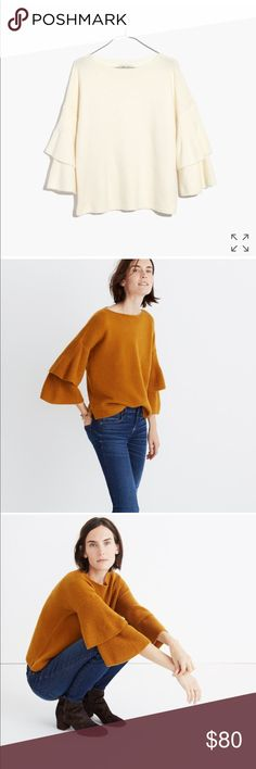 Madewell Tier Sleeve Pullover Sweater NWT, clean and lovely! soft and comfortable!🌷 Madewell Sweaters Crew & Scoop Necks