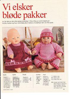 Album Archive - Juletøj til mig og mine dukker Crochet Dolls, Crochet Hats, Baby Born, Baby Booties, Doll Patterns, Baby Dolls, Doll Clothes, Pikachu, Teddy Bear
