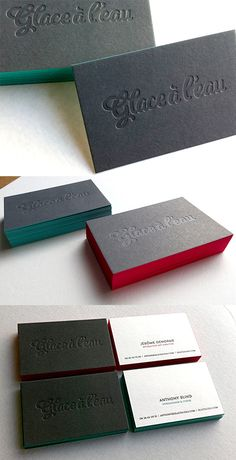 Fantastic Typography On Edge Painted Black Letterpress Business Cards