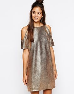 Enlarge Motel Savannah Dress With Cold Shoulder $60 ASOS