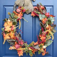 Bring the fall festivities to your home with these DIY fall wreaths. Use seasonal supplies such as burlap, leaves and pinecones to make a fall or Halloween themed wreath that will welcome all your holiday guests.