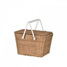 The Olli Ella Piki Basket is a beautiful handmade picnic basket, perfect for day trips with children. This Olli Ella Piki Basket is a lovely natural colour contrasted with white easy to carry handles. The Piki baskets are great for carrying toys, collect Wicker Picnic Basket, Rattan Basket, Backyard Picnic, Easter Baskets, Storage Baskets, Kids Storage, Small Storage, Toy Storage, Tea Set