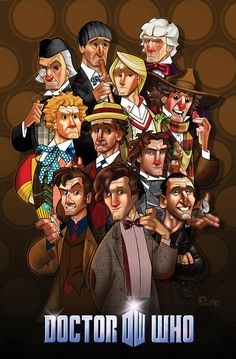 existentializzy:  30 Day Doctor Who Meme // Day 17: A Piece of Who-Related FanArt Eleven Doctors by Jon Pinto