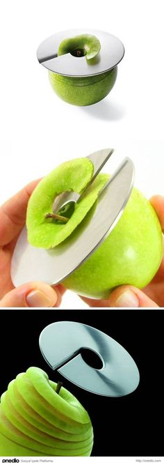 Technology and Inventions: New Apple Slicer Cool Kitchen Gadgets, Home Gadgets, Cooking Gadgets, Gadgets And Gizmos, Cooking Tools, Kitchen Items, Kitchen Hacks, Kitchen Tools, Cool Kitchens