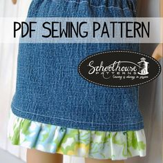 (9) Name: 'Sewing : American Girl Doll Skirt Upcycle