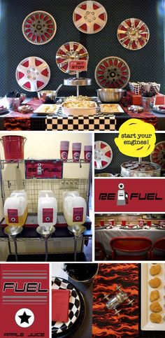 cute refueling station for race party Nascar Party, Race Party, Festa Nascar, Party Games, Hot Wheels Party, Festa Hot Wheels, Decoration Buffet, Party Decoration, Disney Cars Party